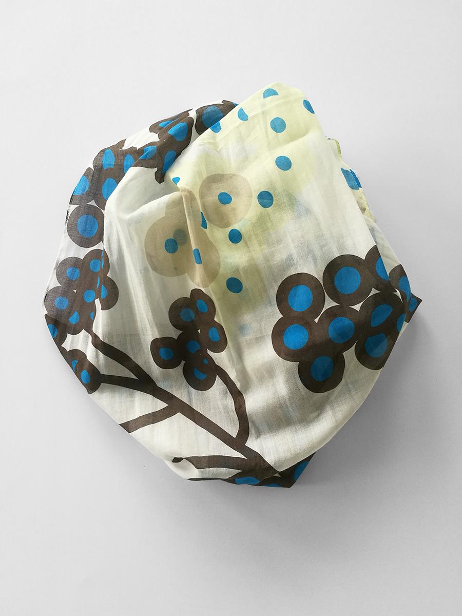 Shawl 'April Brown Blue'