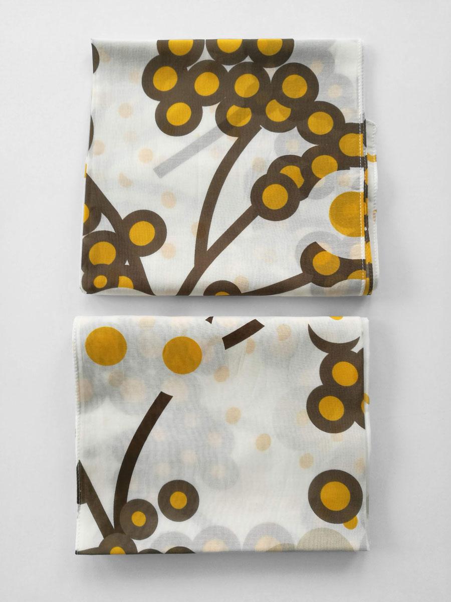 Shawl 'April Brown Yellow'