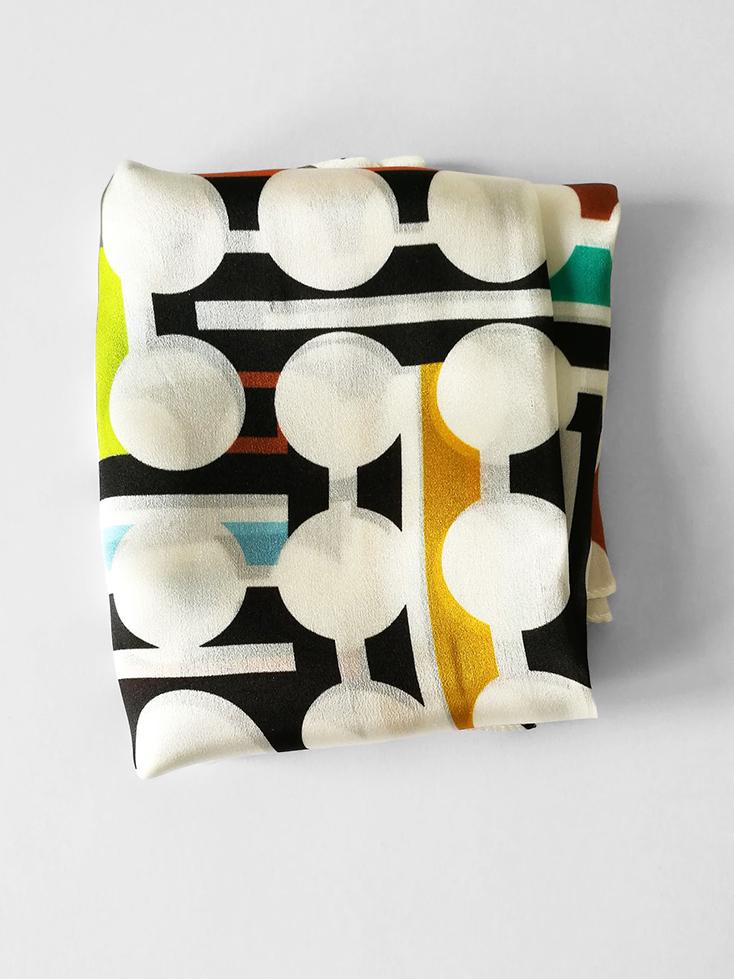 Shawl 'Dots & Stripes'