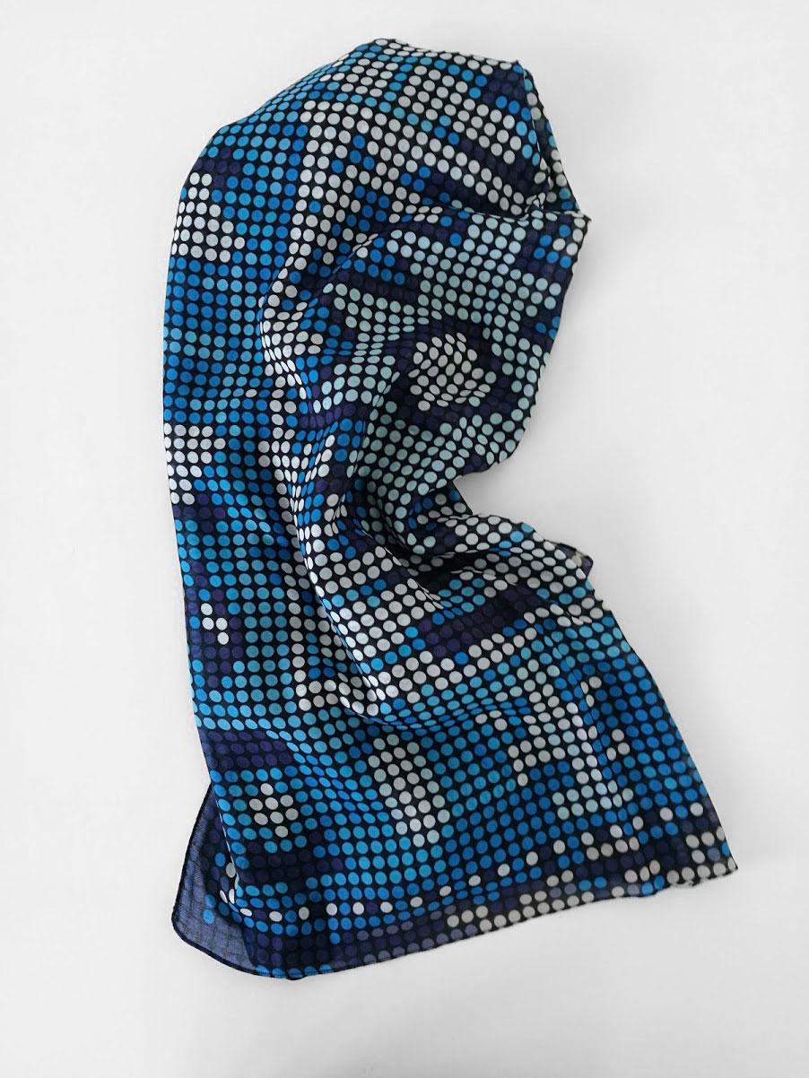 Shawl 'Dieuwertje Blue'