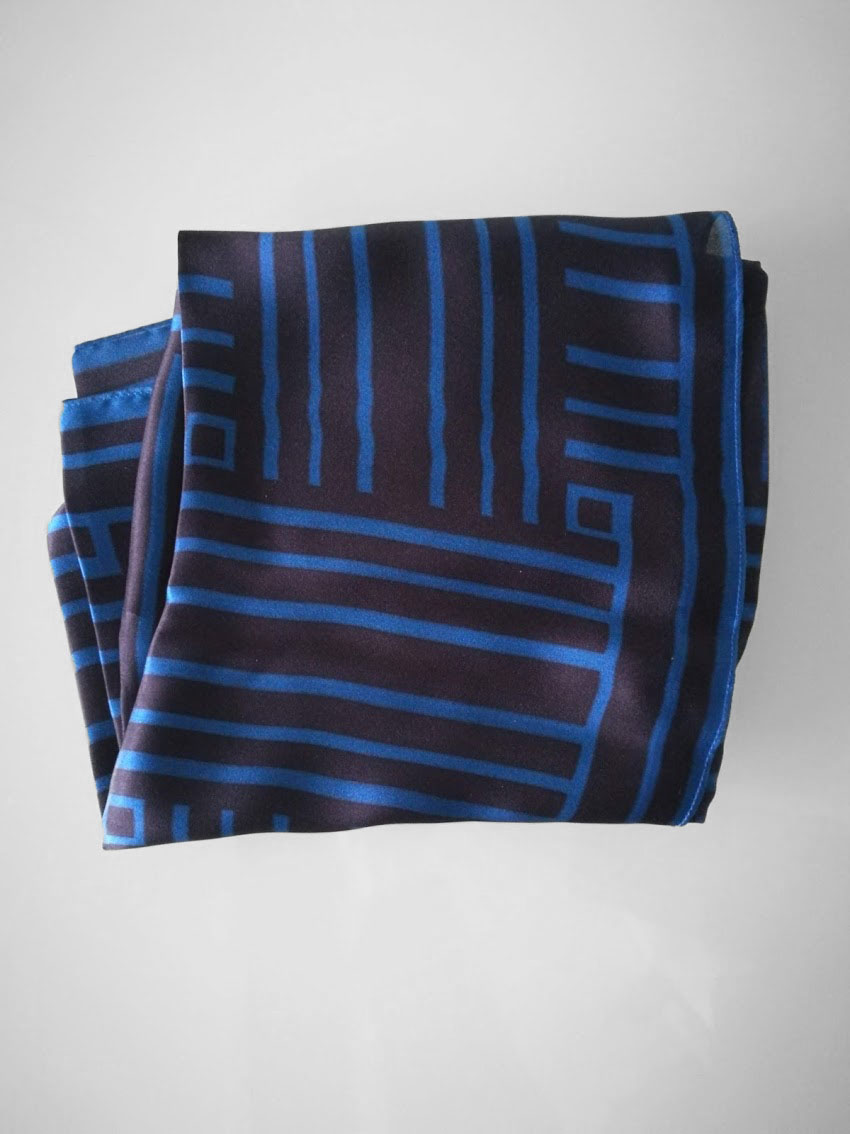 Shawl 'Framed Dark Blue'