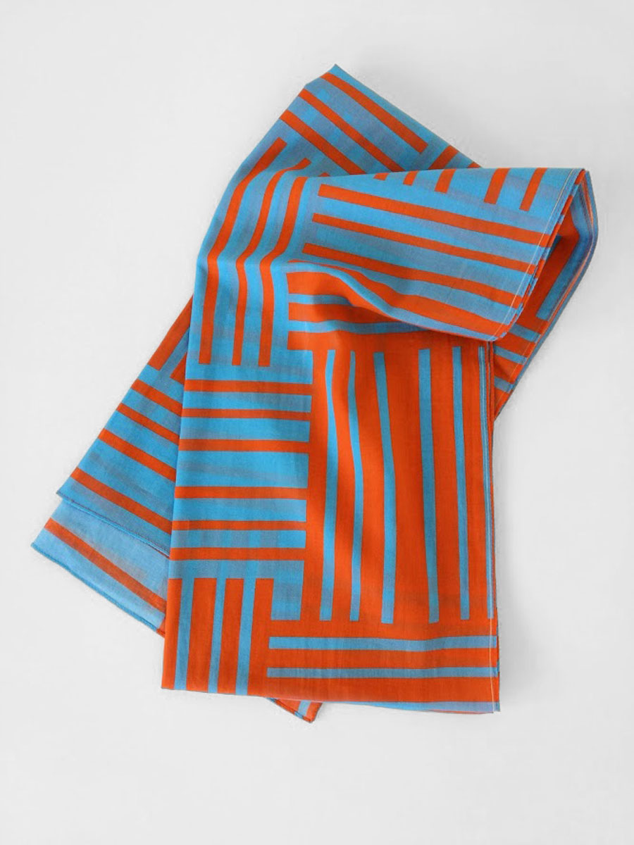 Shawl 'No Stars Orange Blue'