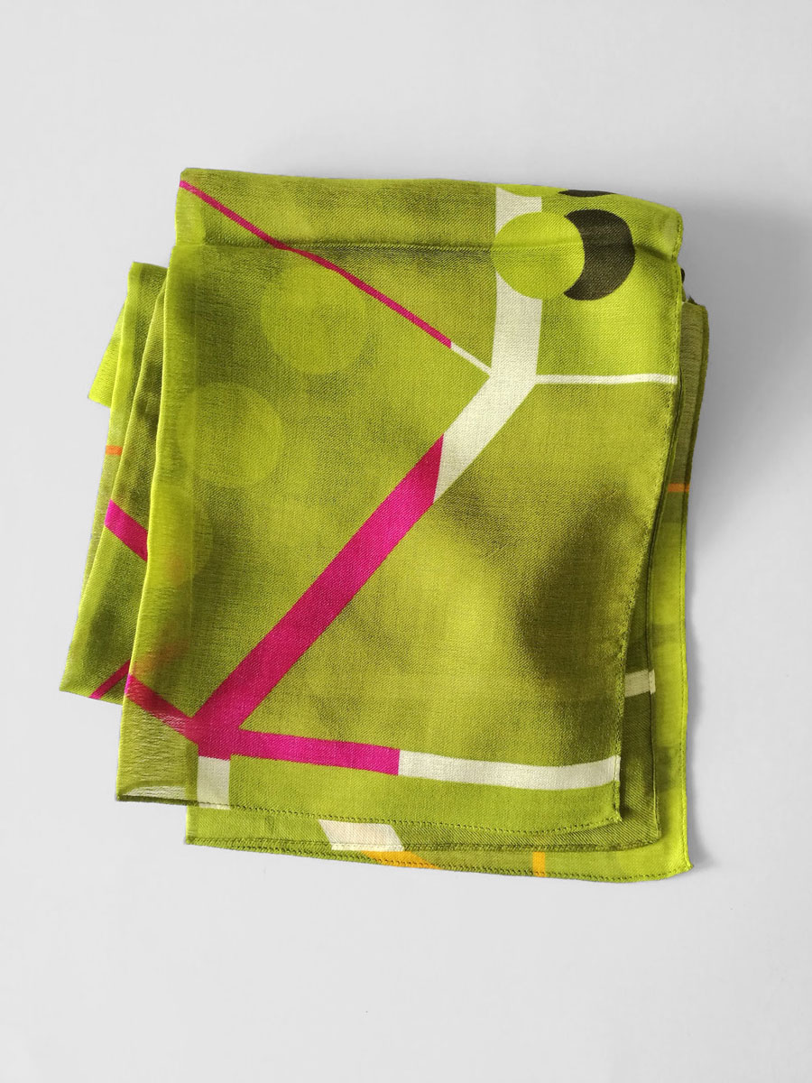 Shawl 'Point of View Apple Green'