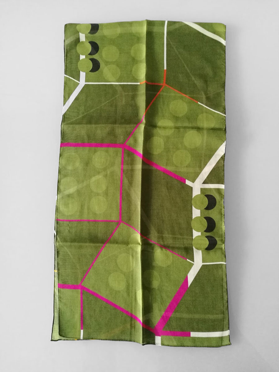 Shawl 'Point of View Green & Pink'