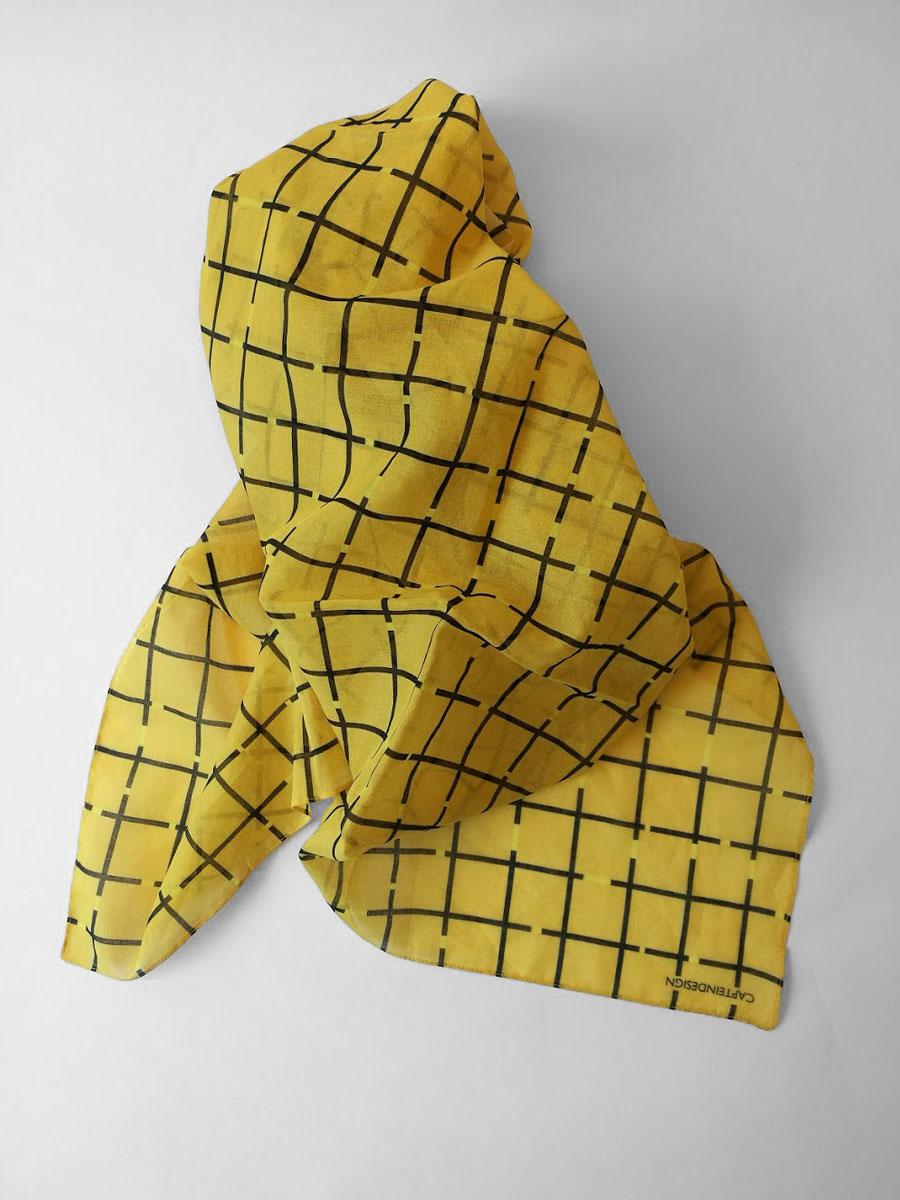 Shawl 'Mind the gap Yellow'
