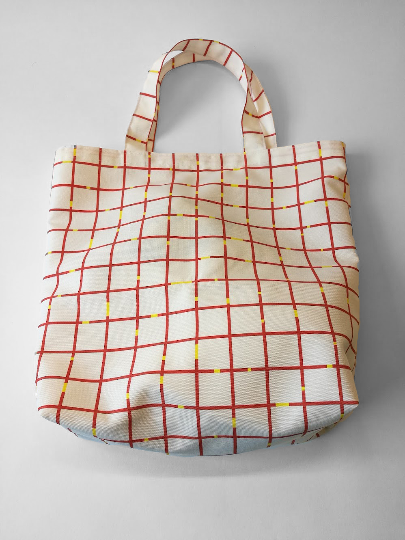 Bag 'Mind the Gab White Red'