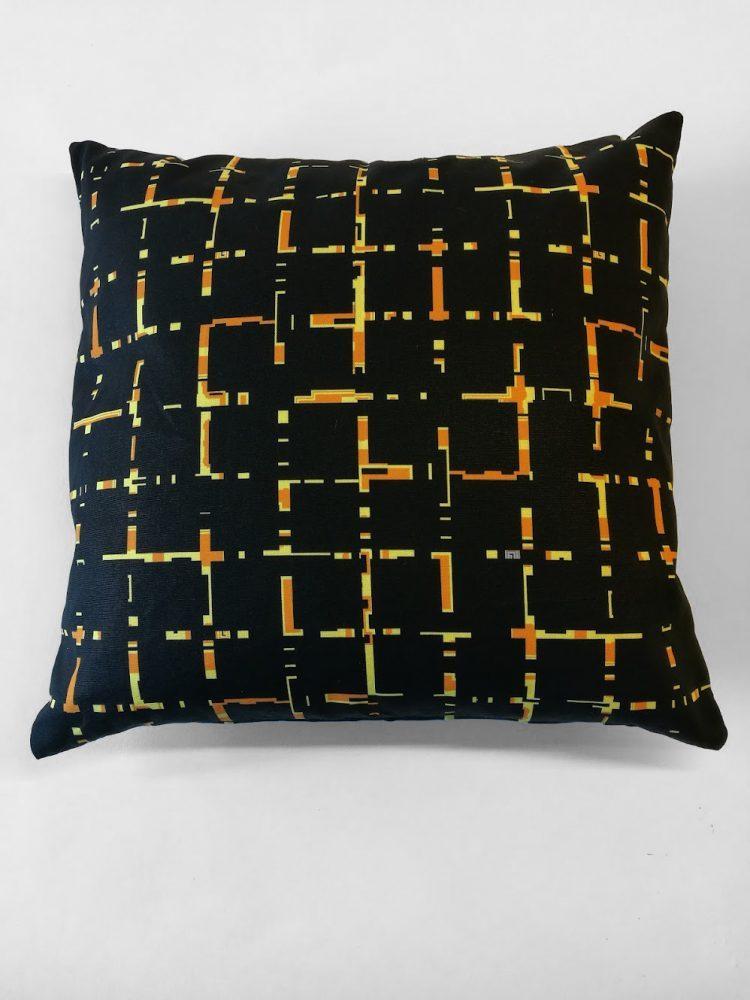 Pillow 'Grids Ochre 0004'