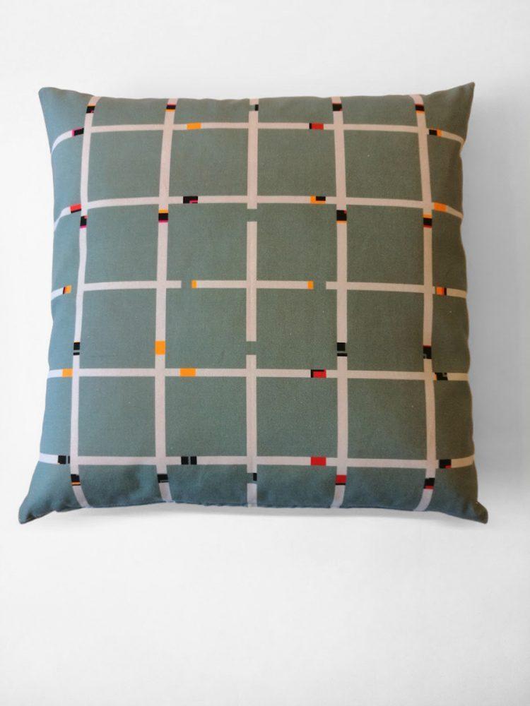 Pillow 'An-Jet Grey Green 1312'