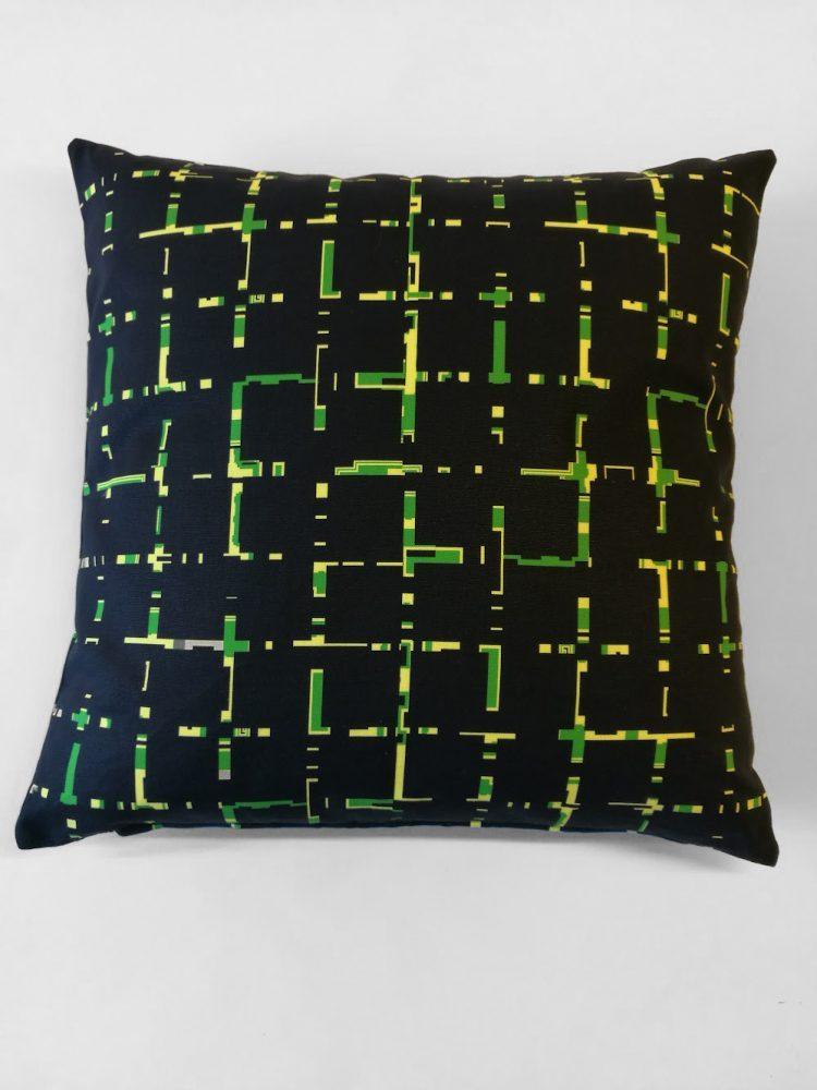 Pillow 'Grids Green 1575-0004'